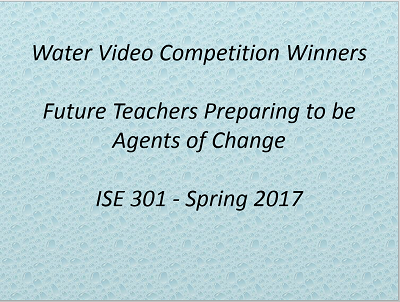 Water Video Competition Winners